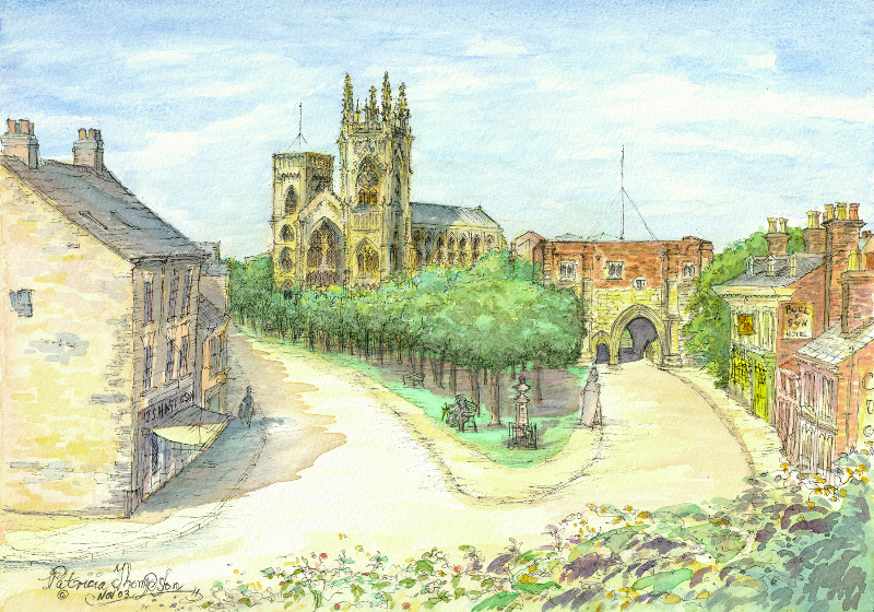 Patricia Thompson - Bridlington Priory Church and Baylegate