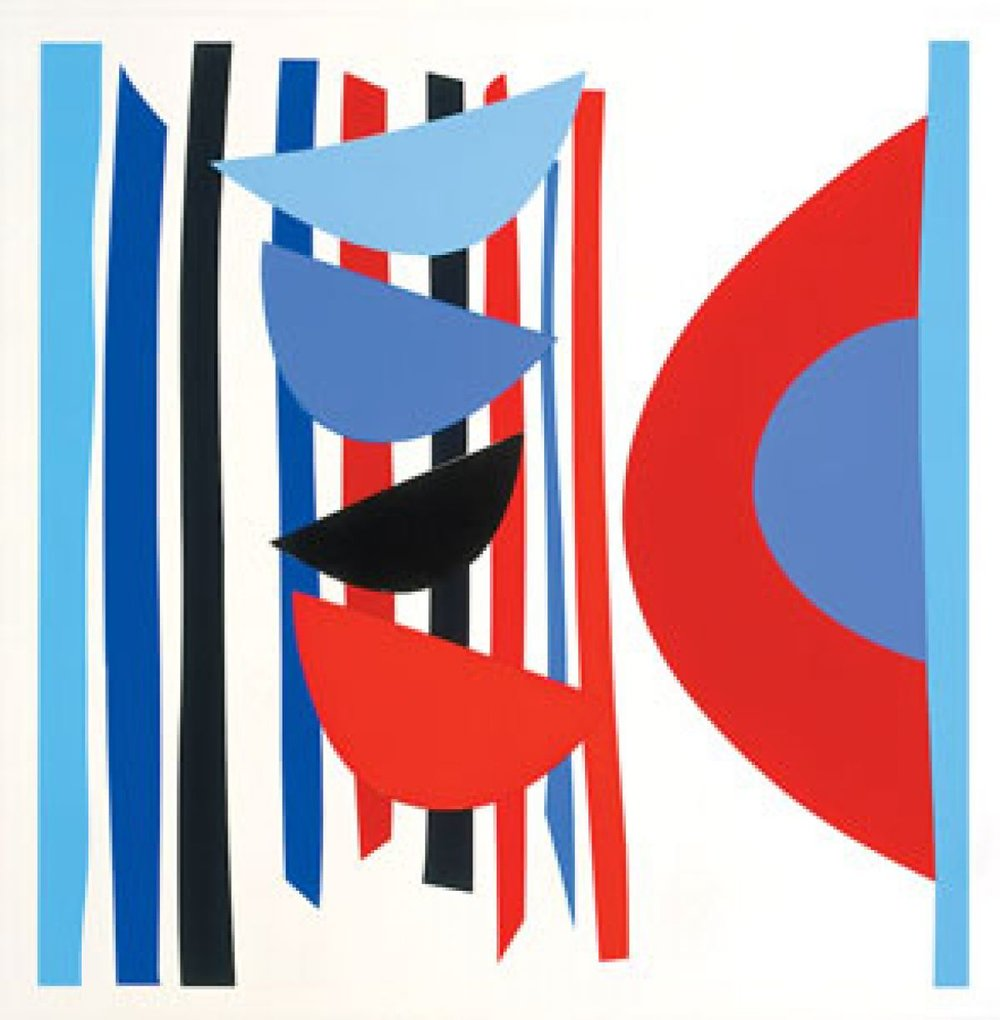 Terry Frost - Blue Red Black Vertical Rhythm