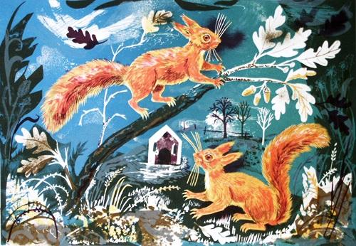 Mark Hearld - Hat Box Squirrels