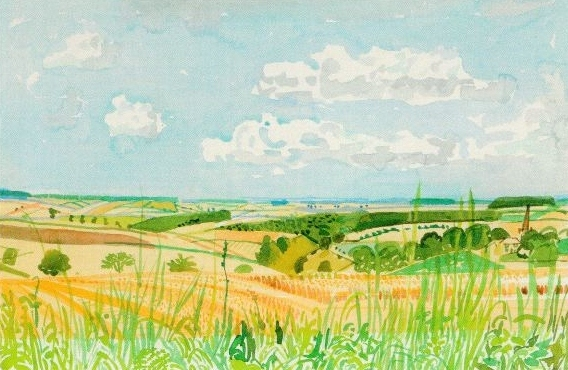 David Hockney - Looking towards Huggate