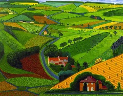 David Hockney - Road across the Wolds