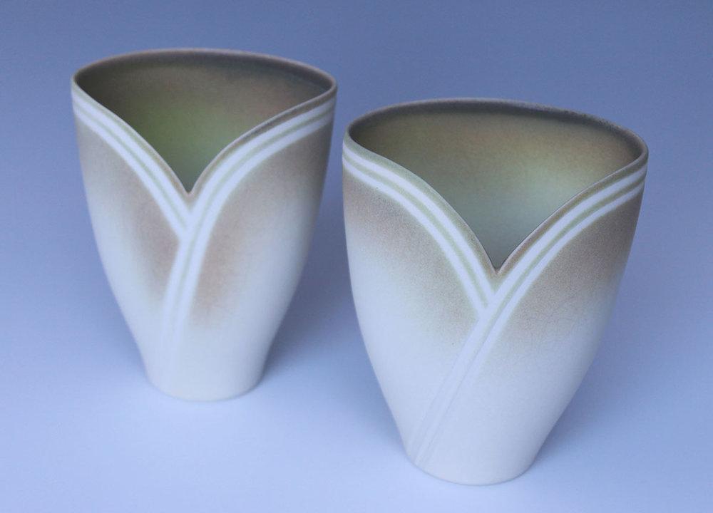 Jenny Morten - 2 Overlapping Vases (Porcelain)