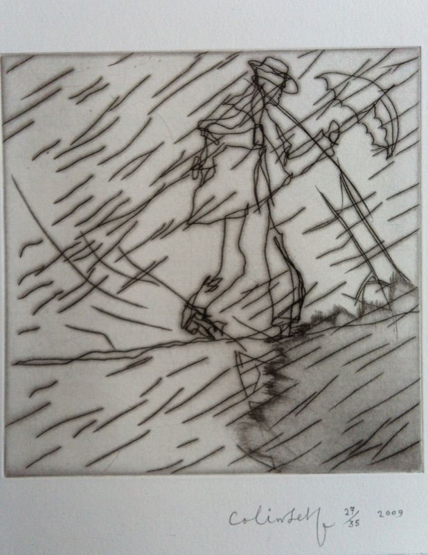 Colin Self - Man in a Rainstorm #2