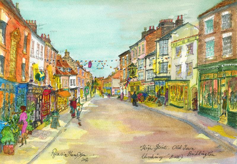 Patricia Thompson - High Street, Looking East