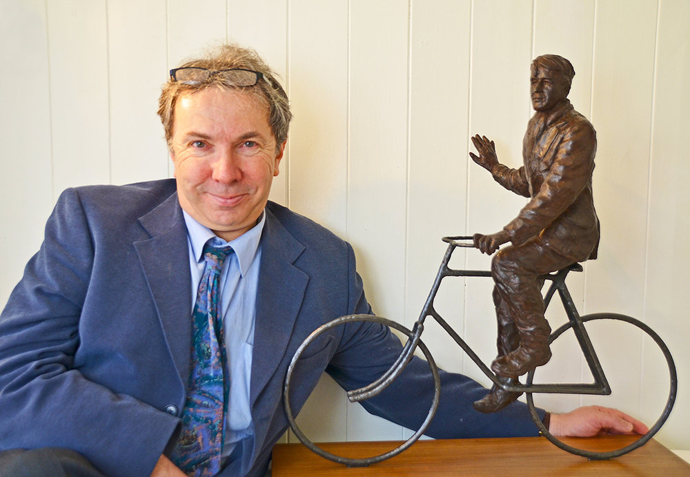 Stephen Carvill - With T.E. Lawrence Sculpture