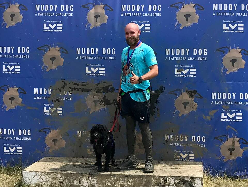 Muddy Dog Challenge to raise money for Battersea Dogs Home and their rescue dogs.