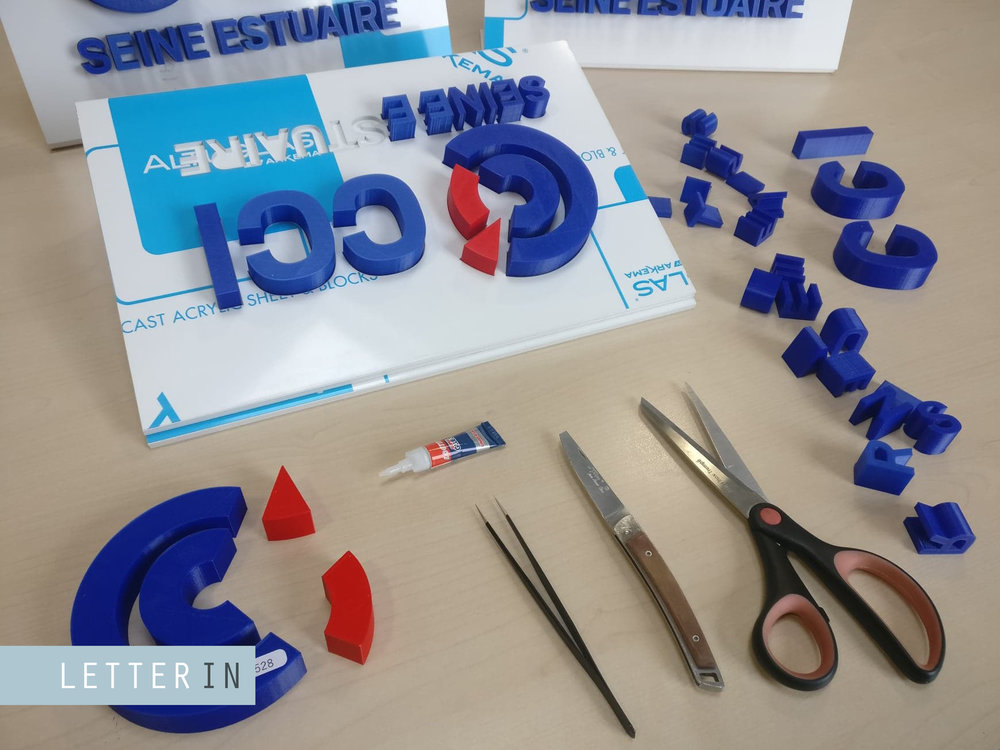 logo cci imprimé en 3D fabrication