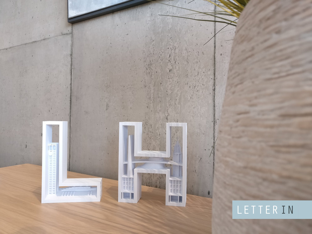 LH imprimé en 3D LetterIN