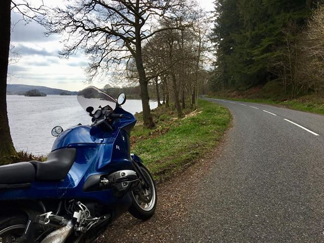 Took a wee spin down the west side of Loch Ken yesterday. What a lovely road it is. During the 15 mins from New Galloway to Laurieston I shared the road with two cyclists and (inevitably) a DPD van. Glorious Galloway!  #themotorcyclistsguidetoscotland. #galloway #touring #southwestscotland