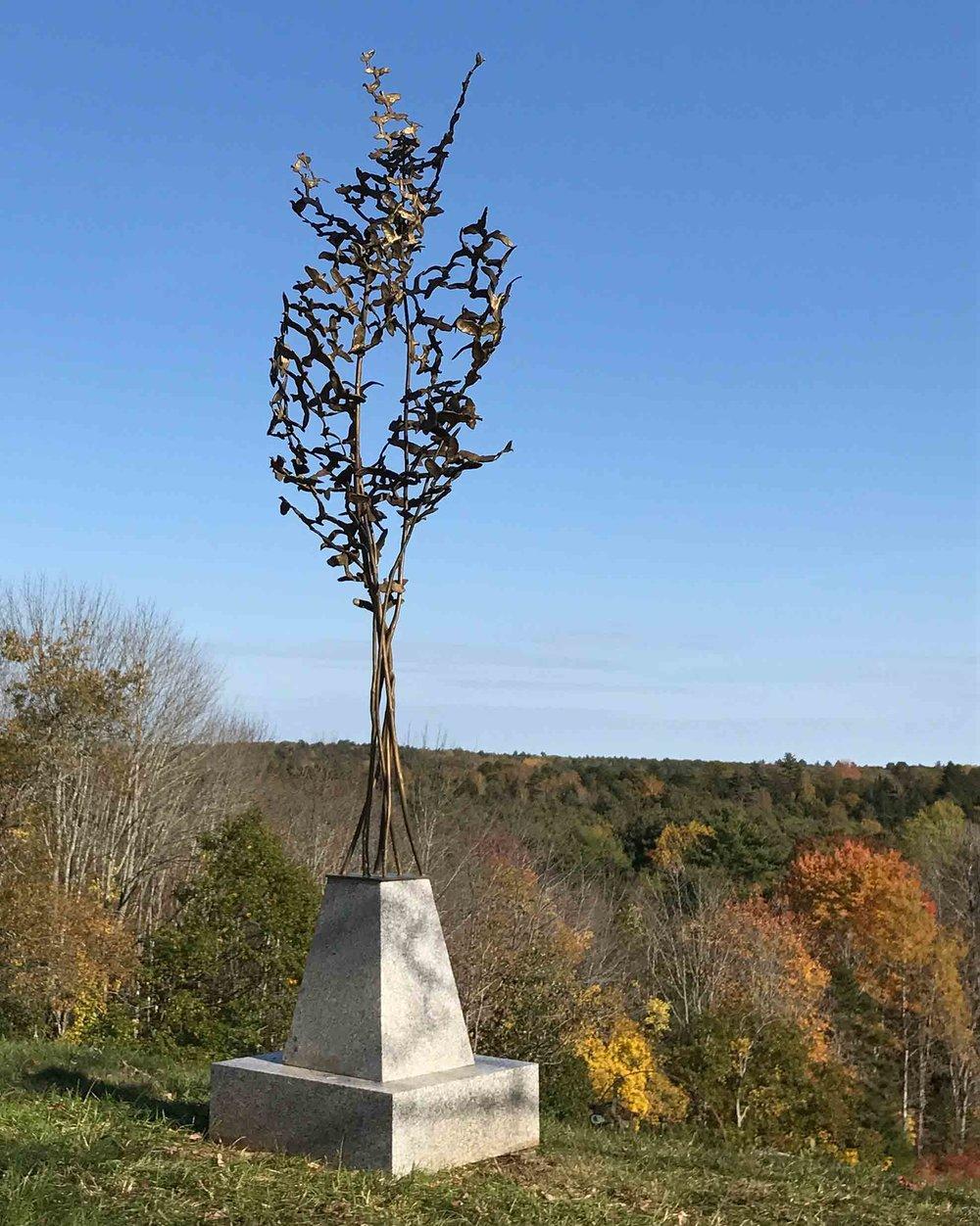 Millesimes, 11' x 4' x 4', Unique Bronze on Granite Base, $45,000