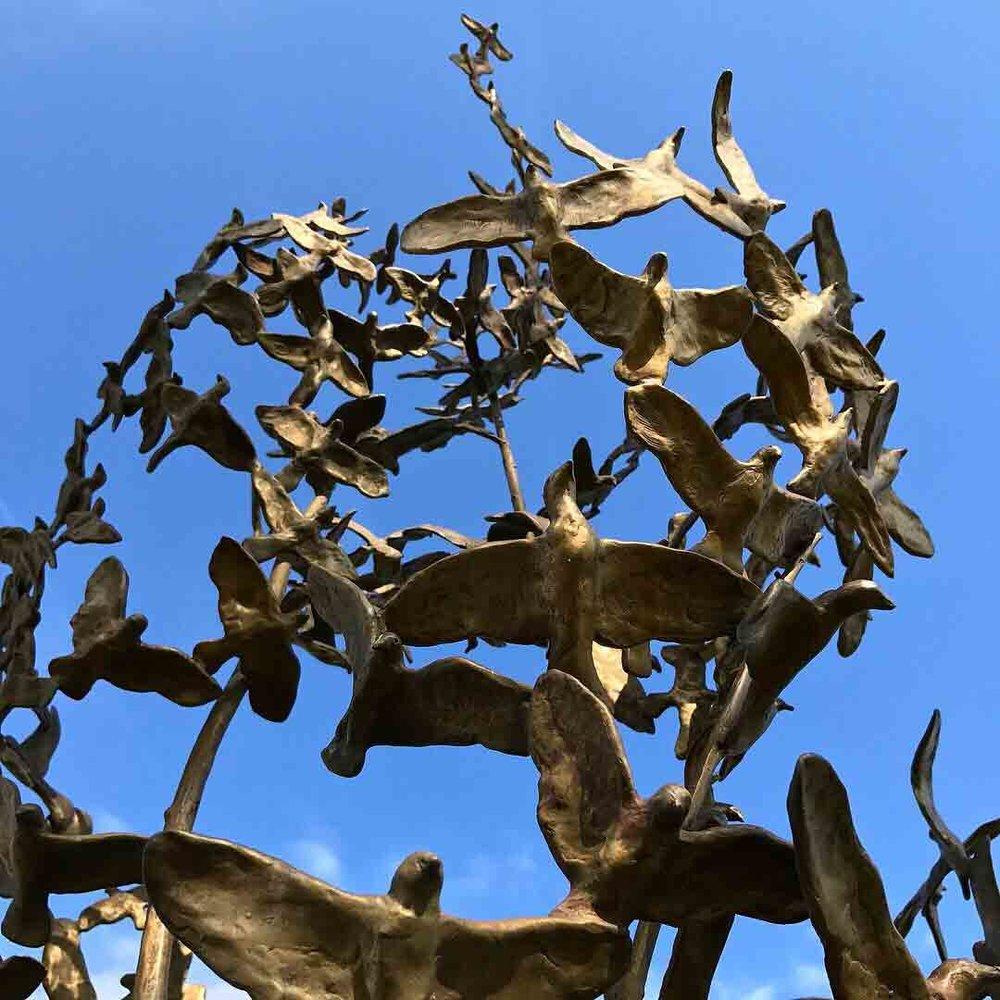 Millesimes (Detail), 11' x 4' x 4', Unique Bronze on Granite Base, $45,000