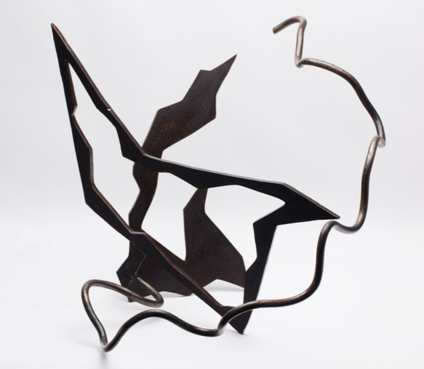 Birds in a Bush, carbon steel with wax finish, $1,000