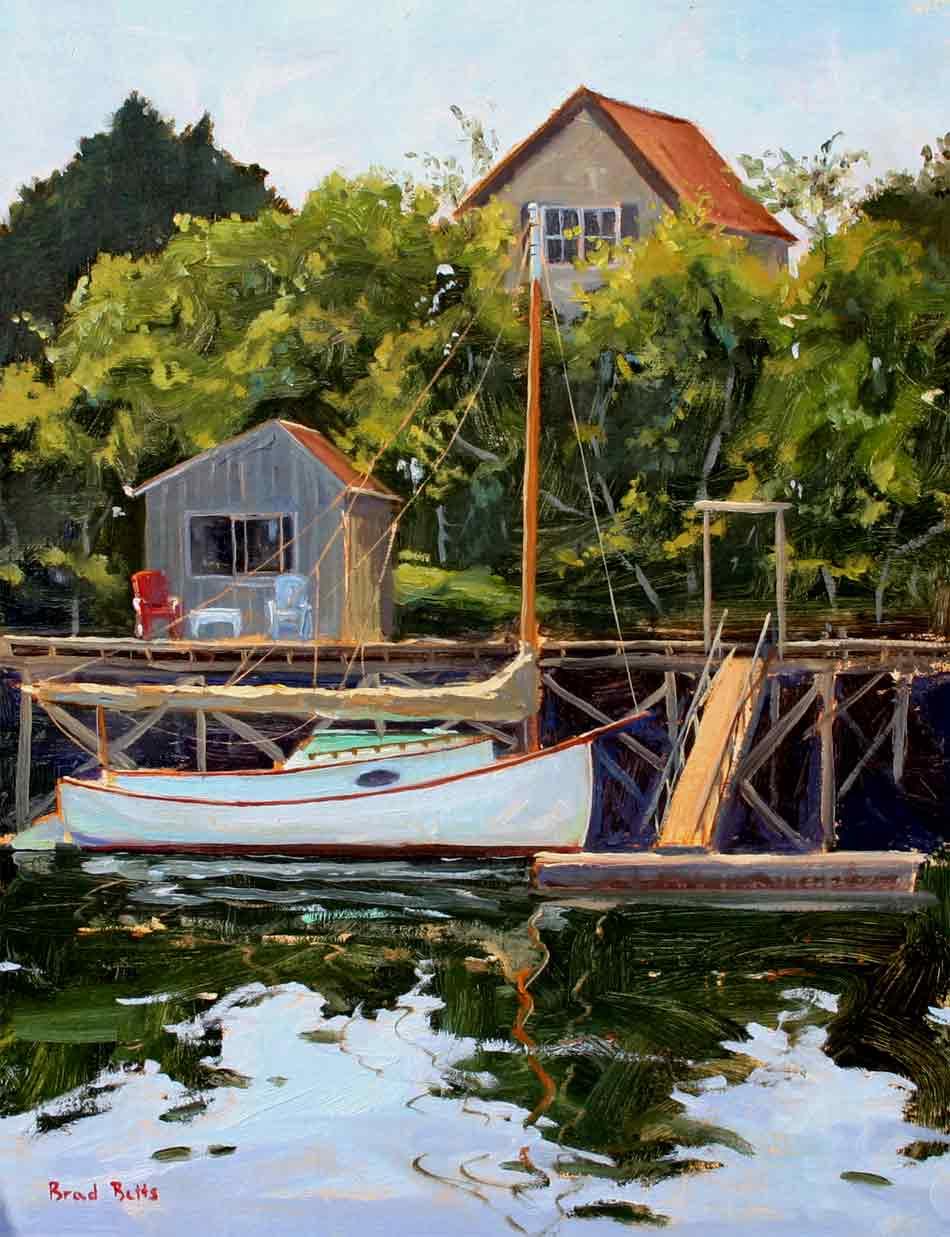12. Betts Catboat In Bristol 14  x 11 Oil On Linen $2400 web.jpg