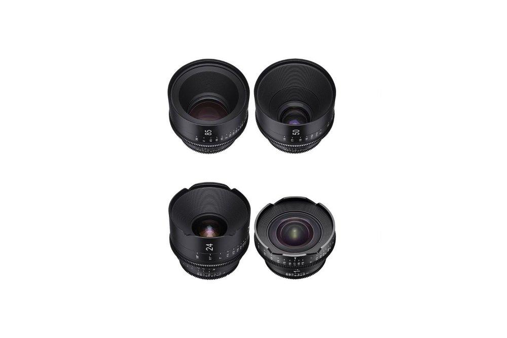 Rokinon Xeen Cine 4 Lens Set (14, 24, 50 & 85 mm) - 150 EUR/day