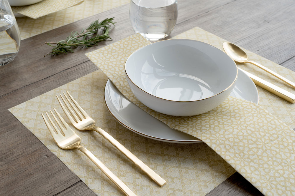 the napkins I DwellStudio Table Collection