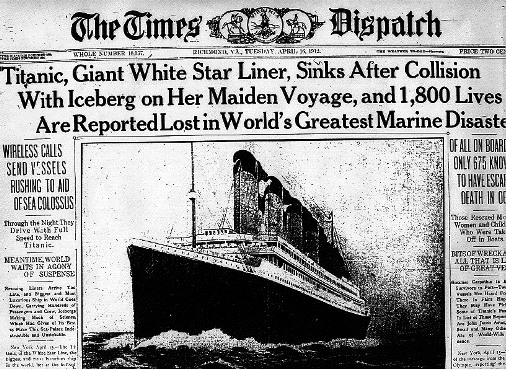 titanic news headline