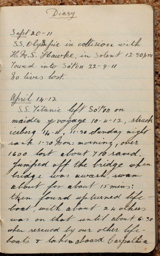 Mr Sidney Daniels' Diary