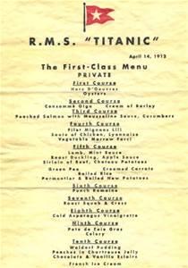 1st class menu