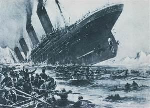 Titanic sinking artist rendering