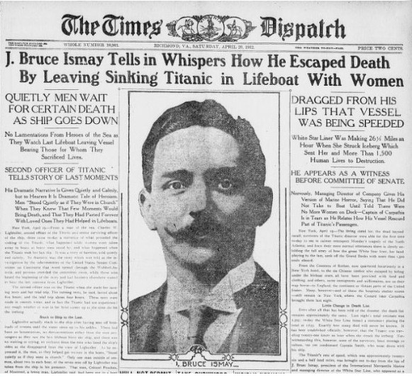 headlines after sinking