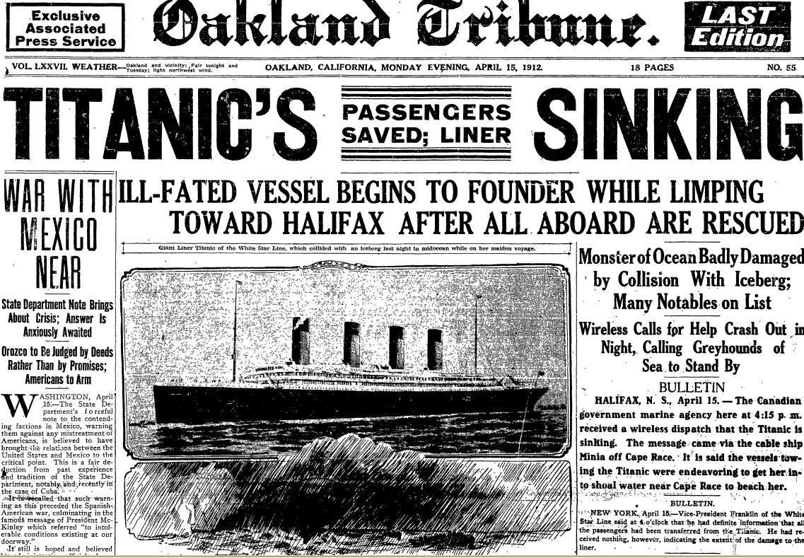 titanic-oakland-tribune-15-apr-1912