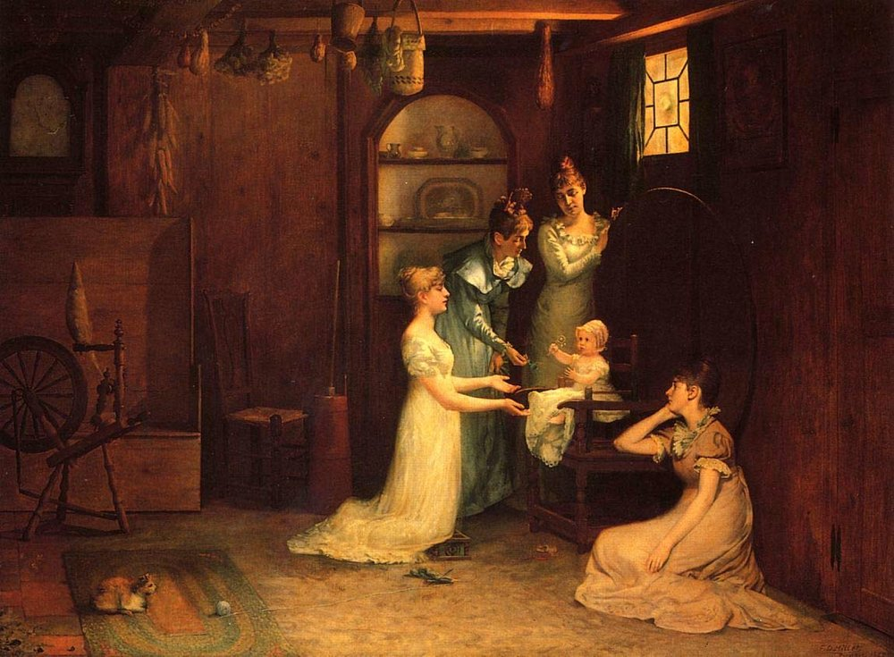 francis-davis-millet-playing-with-baby
