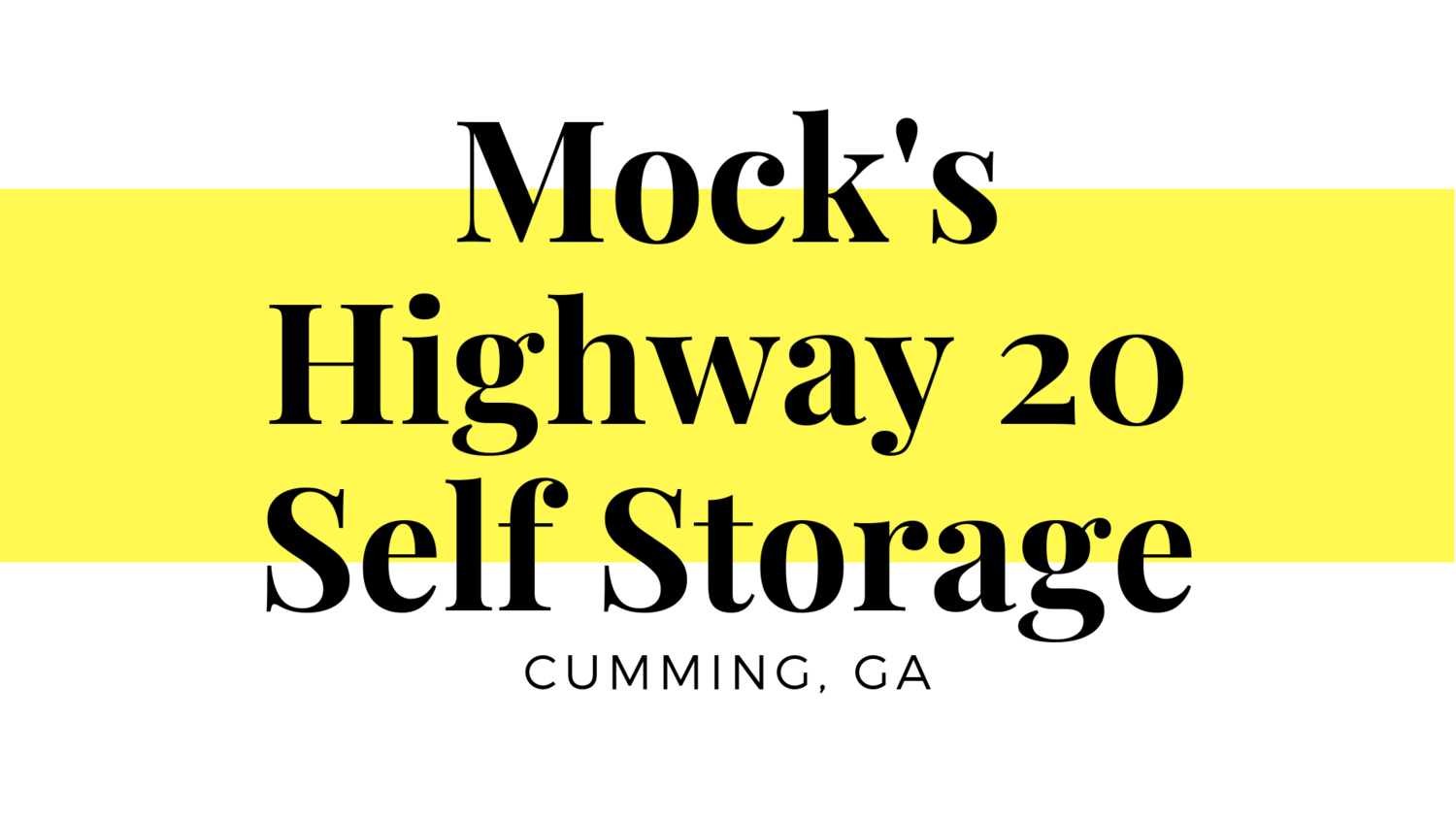 Mock's Highway 20 Self Storage