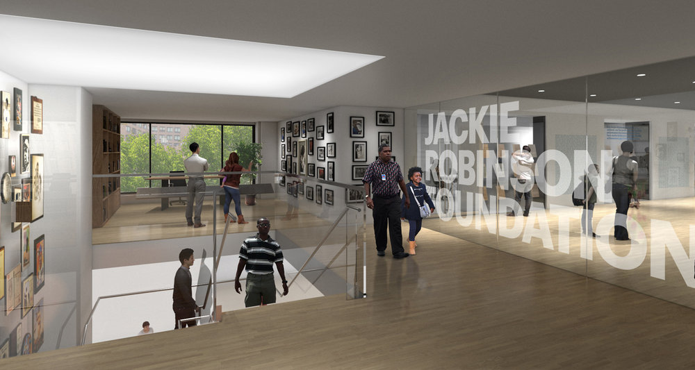 Rendering of the proposed second floor landing in the museum.  Ralph Appelbaum Associates