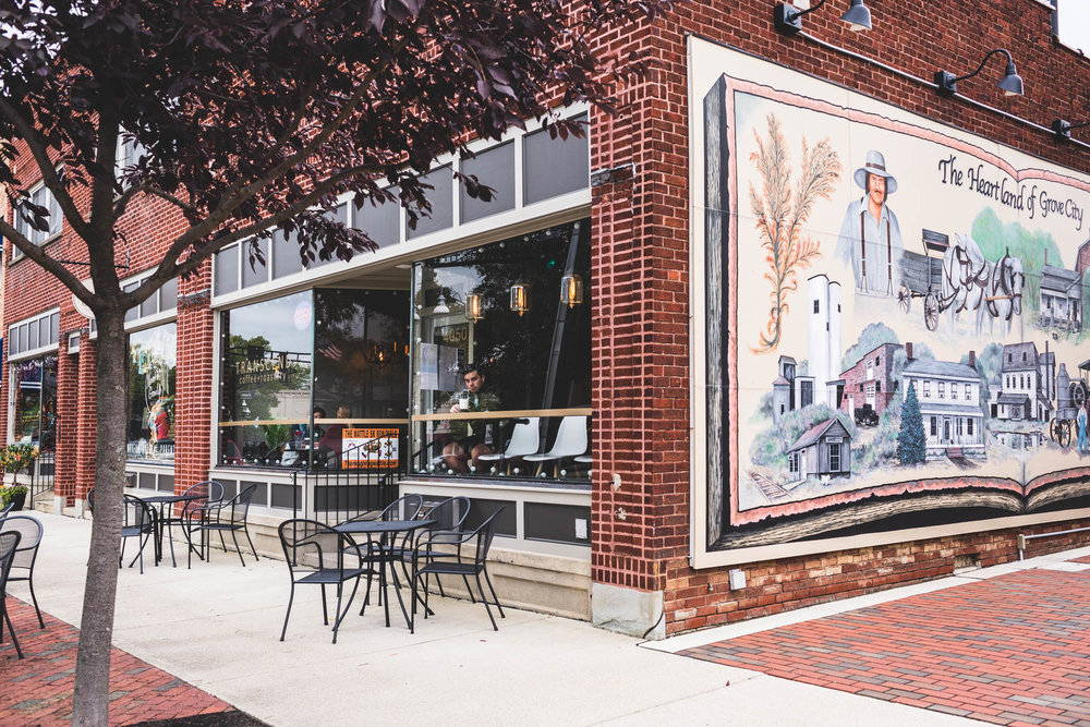 grove city mural coffee shop