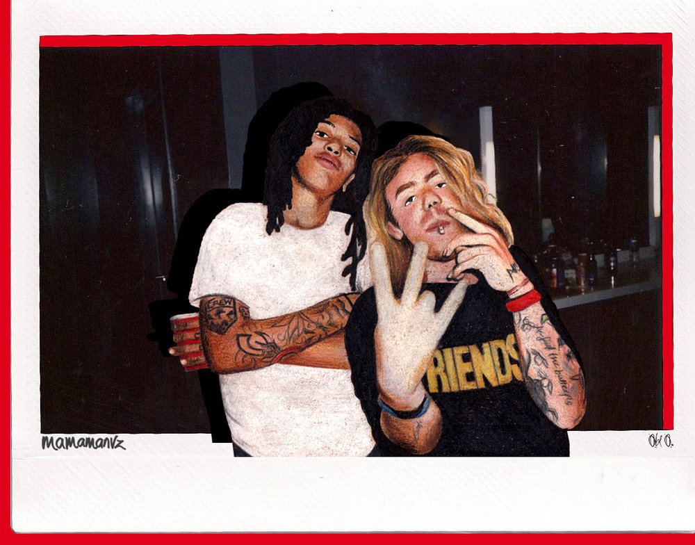 Osh & Modsun - original polaroid by  Obi O.