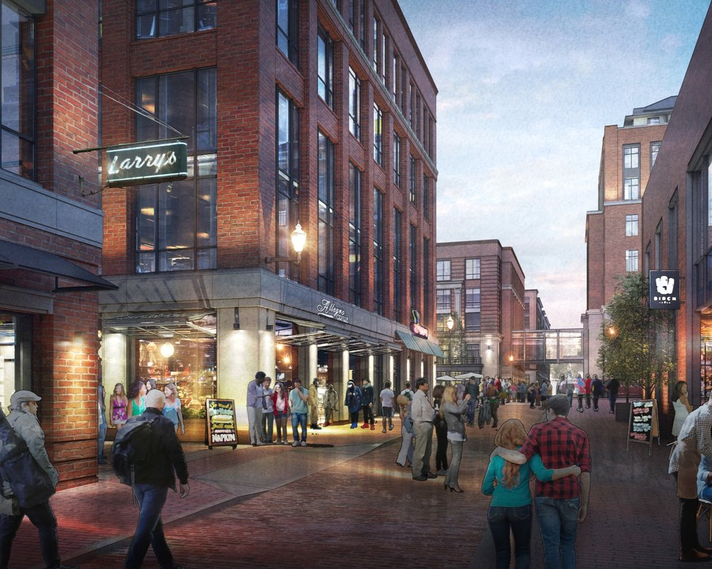 Pearl Alley - Pearl Alley will be transformed into a vibrant, safe, urban pedestrian alley. By reclaiming bricks and salvaging materials from old buildings, Campus Partners aims to create a home for new dynamic ventures.