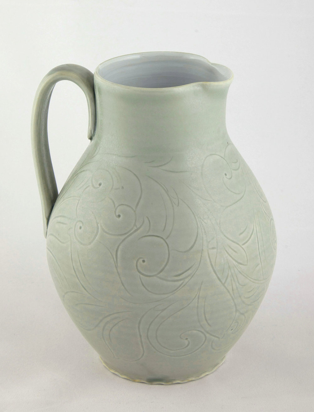 9. Pitcher, Jade green incised.jpg