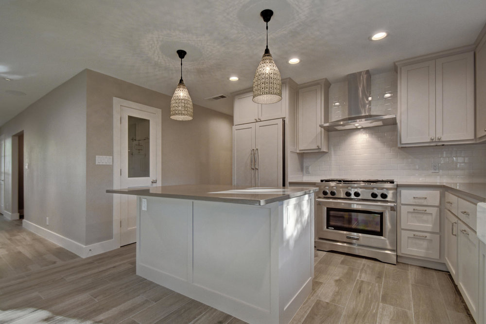 kitchen island with pendants