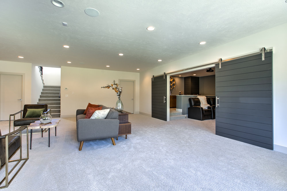 The Basement Living Space | Nathan Homes