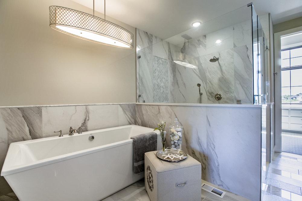 The Master Bathroom   Nathan Homes
