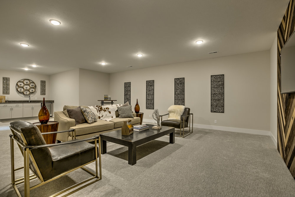The Basement Living Space | Laid Back Lifestyle