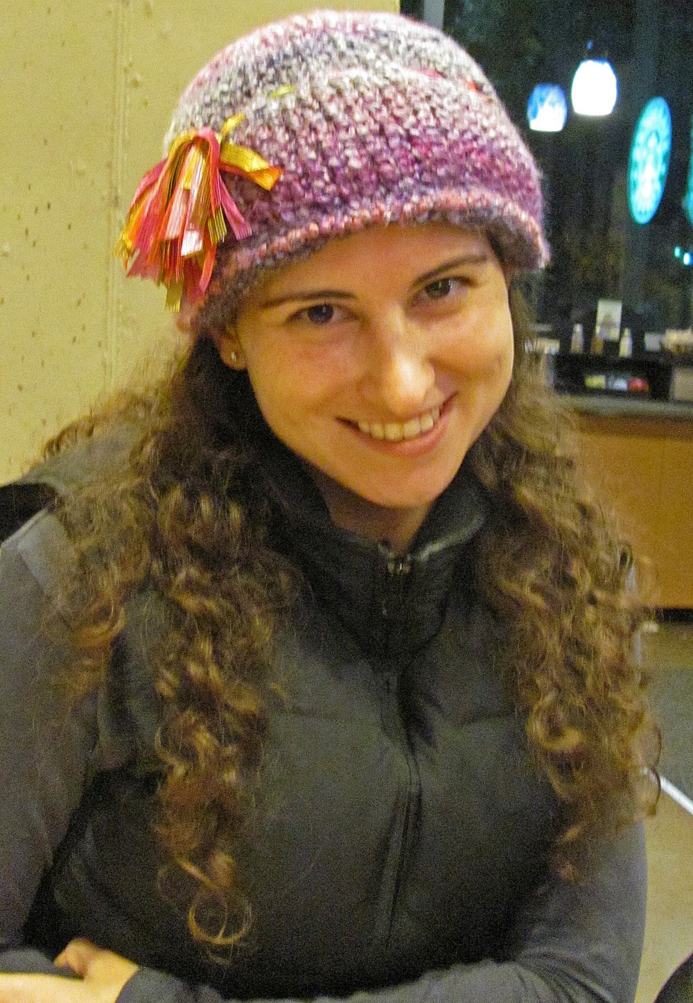 fall 2011 - me and my favorite hat, which sparked letting my hair down again