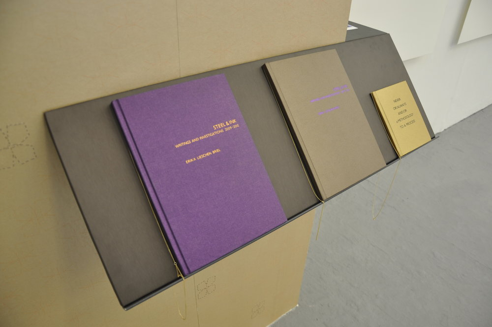 Written Works for Installation: Engineering ≥ Evolving: Romanticism of a Nomadic Space N°03032011, Various materials, 2011.