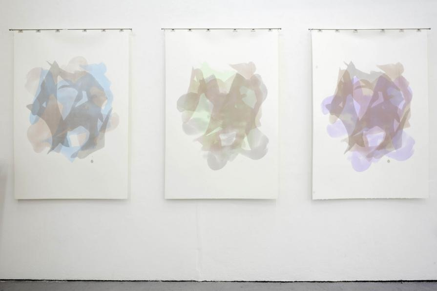 Creating What Is Missed: Phase ABC, Phase BAC, and Phase CBA, Printmaking, Paper, 102x148cm, 2011.