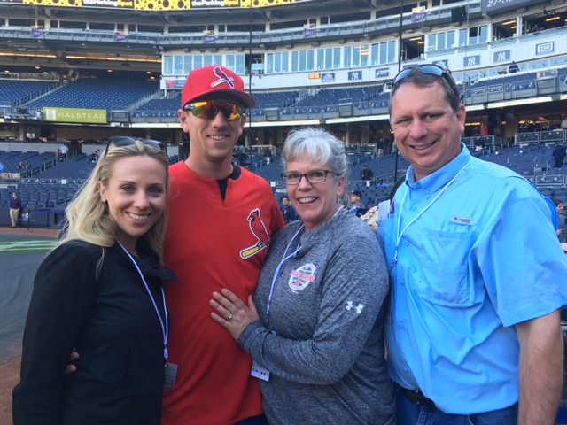 Carrie, Stephen, Gretchen and Mike Piscotty