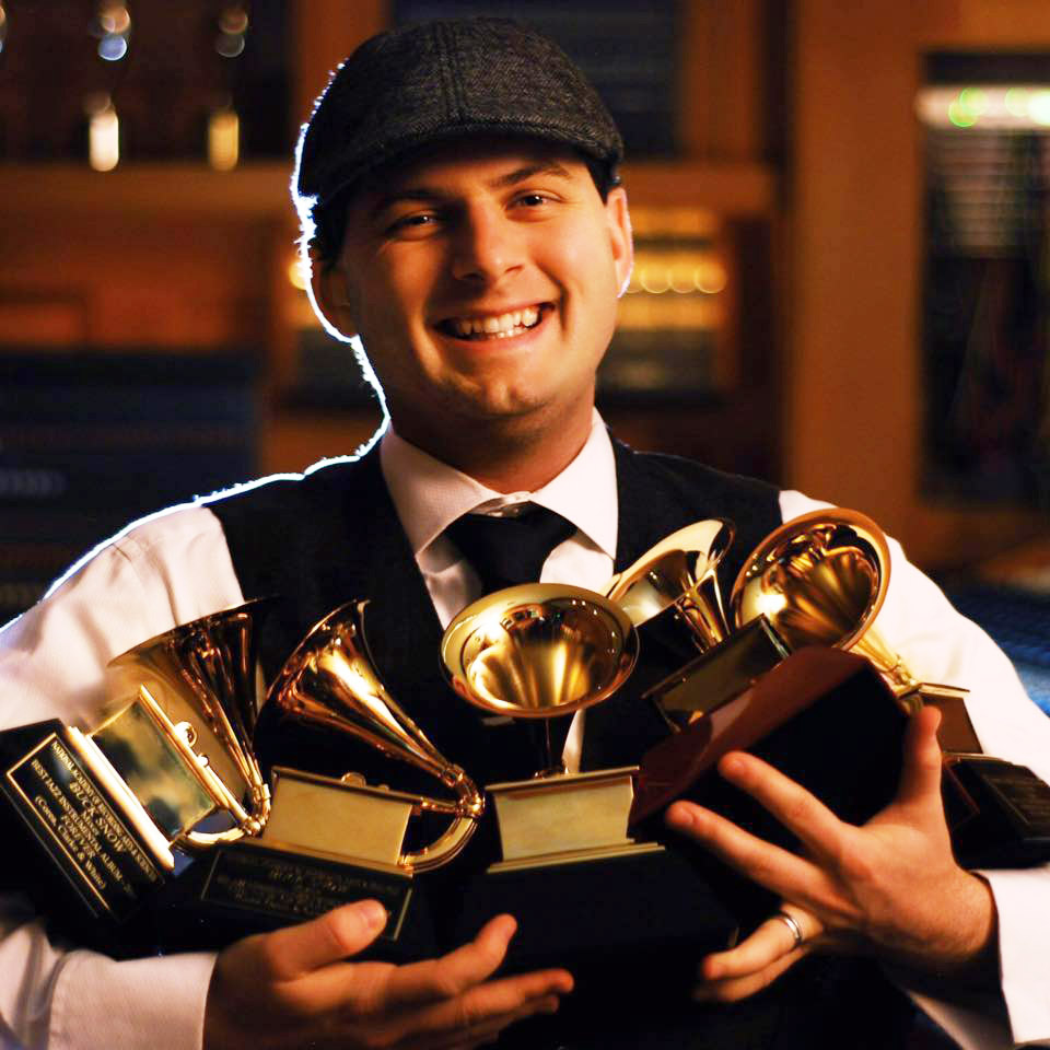 Buck with his first five Grammys