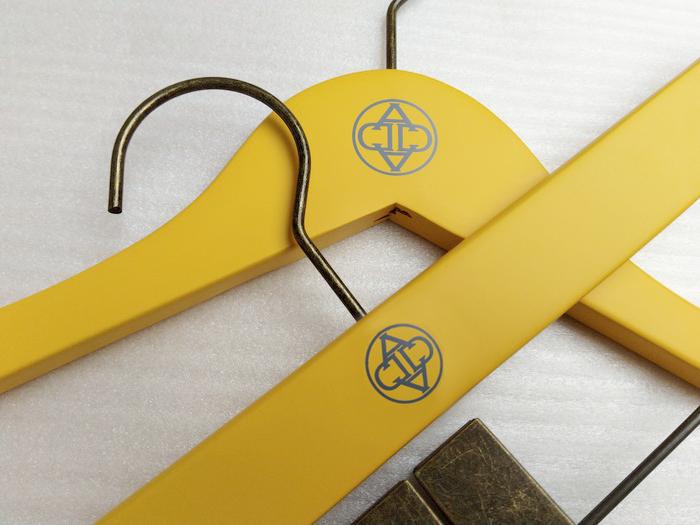 Top Hangers in Saffron w/ Bronze