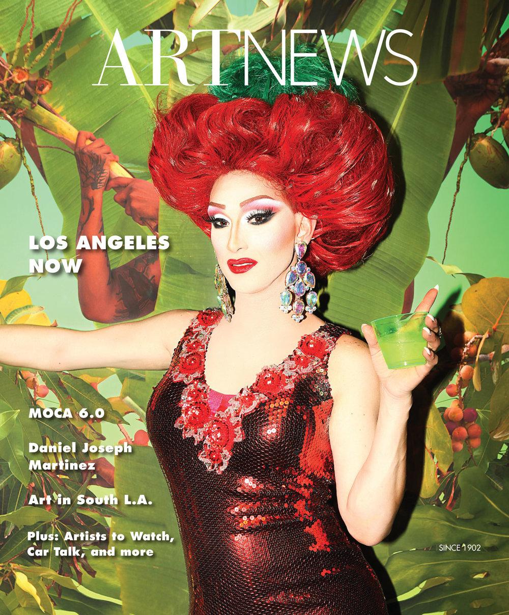 Fallen Fruit, on the cover of Art News Winter 2019