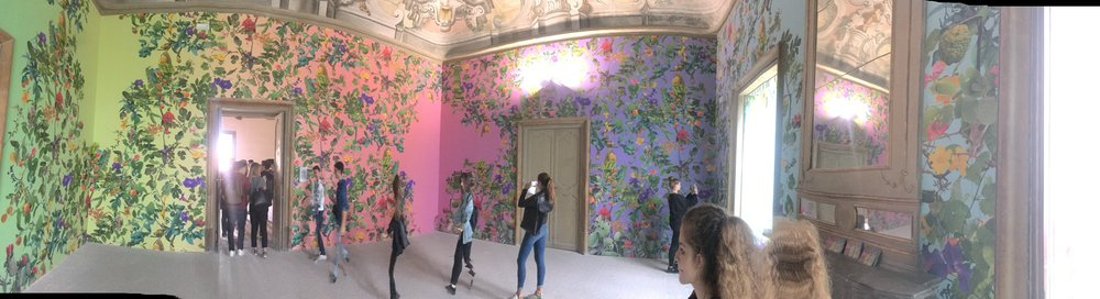 Theater of the Sun, by  Fallen Fruit, 2018 at Manifesta 12, Palazzo Butera, Palermo Italy