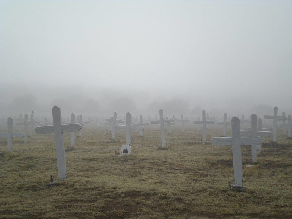 PHOTO: Merchant Marines Cemetery in Mist