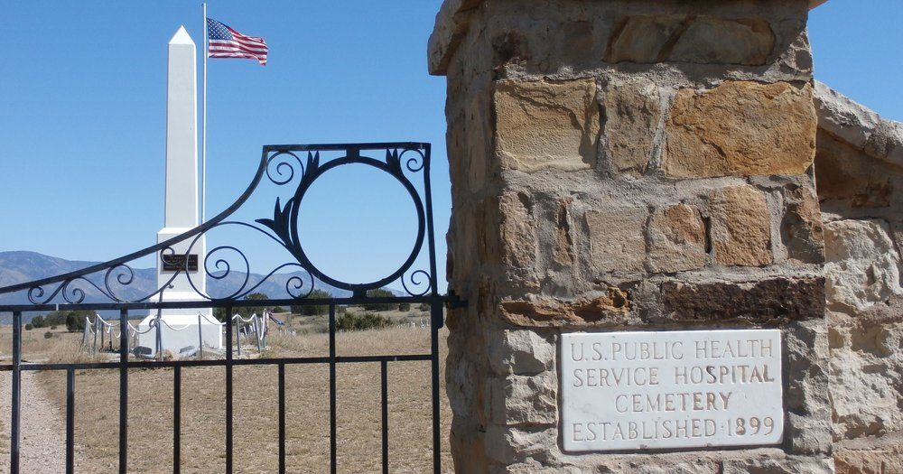 PHOTO: Fort Stanton Cemetery Entrance Gate