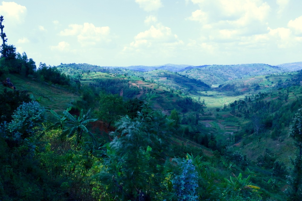 The landscape at Nyampinga, Nyaruguru District, Rwanda