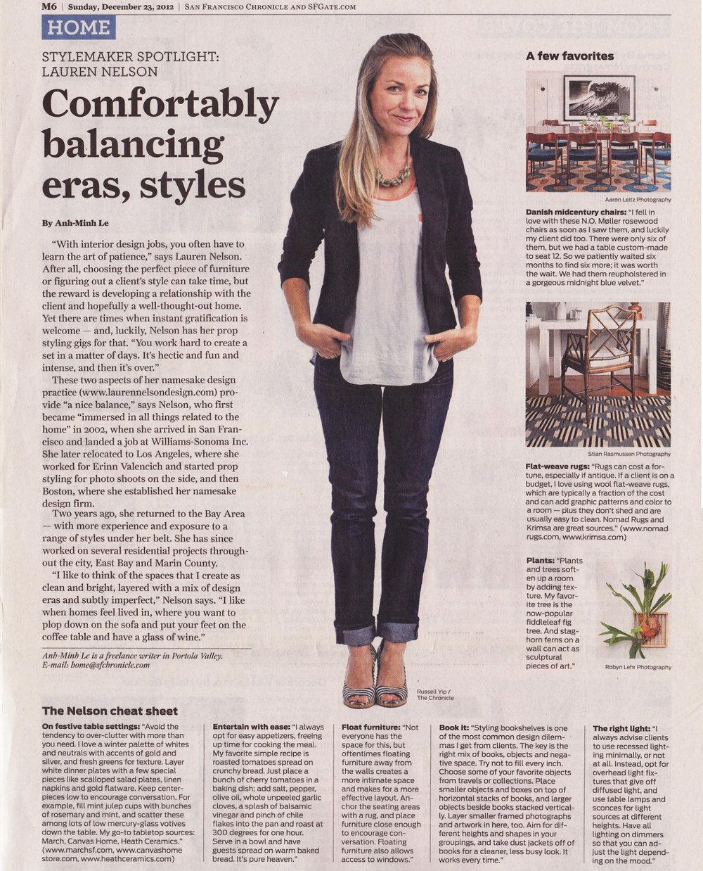 Lauren Nelson Design - SF Chronicle