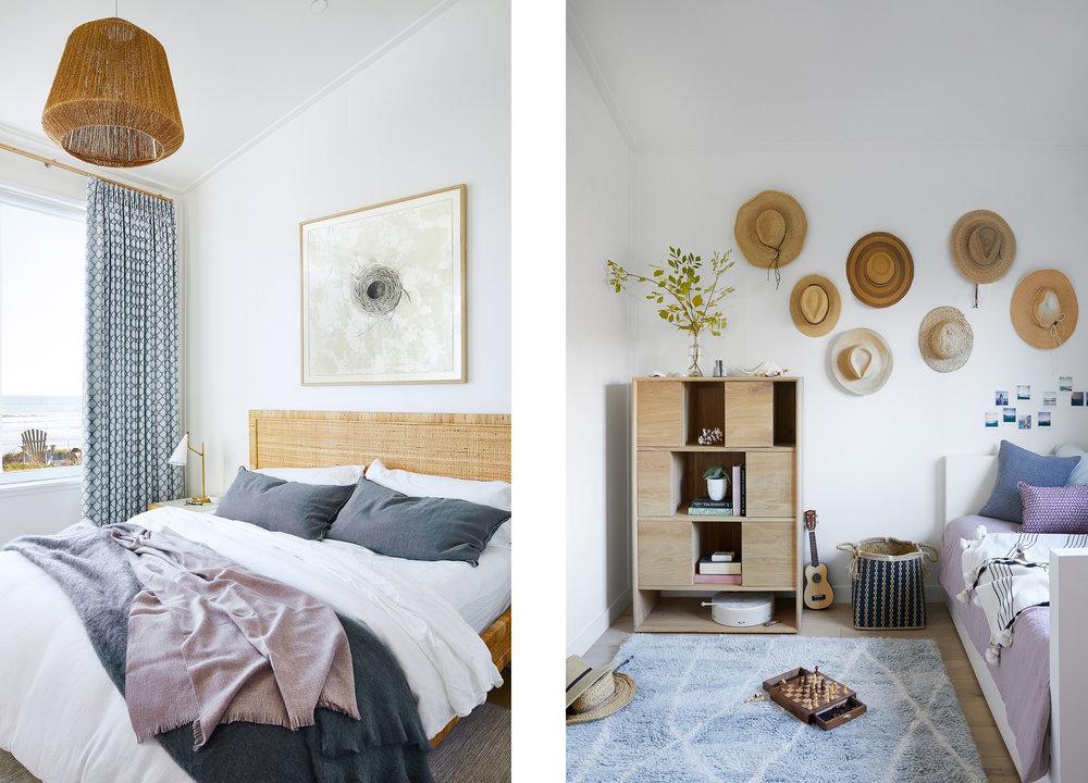 Lauren Nelson Design // Stinson Beach House // Guest Bedrooms