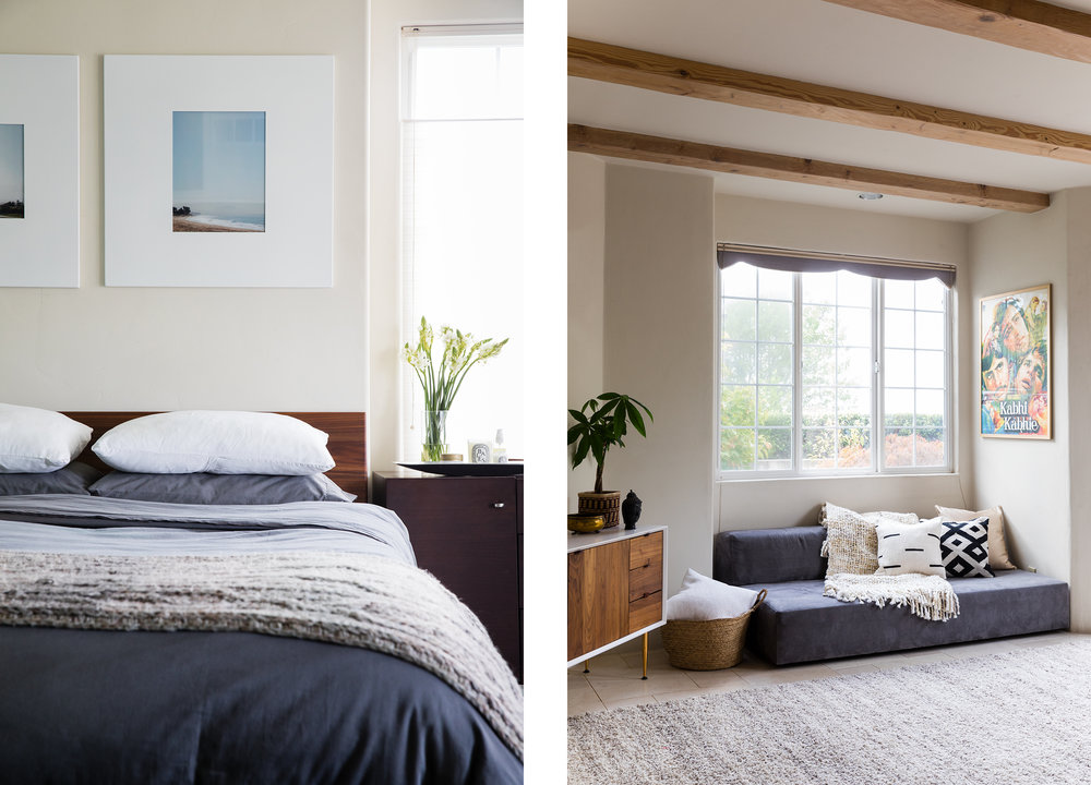 Lauren Nelson Design // Oakland Home // Bedroom & Living Room